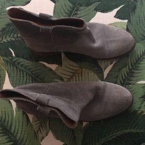 Grey Suede Madewell booties